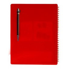 "NOTEX FUNKY RED WIREBOUND SPIRAL 1 SUBJECT NOTEBOOK 75 SHEETS 6""X9.5"" RULED/LINED PAPER"