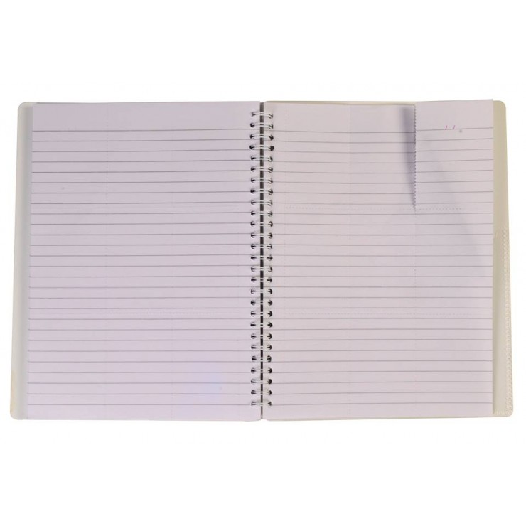 "NOTEX ICY WHITE WIREBOUND SPIRAL 1 SUBJECT NOTEBOOK 75 SHEETS 6""X9.5"" RULED/LINED PAPER"