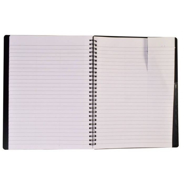 "NOTEX JET BLACK WIREBOUND SPIRAL 1 SUBJECT NOTEBOOK 75 SHEETS 6""X9.5"" RULED/LINED PAPER"