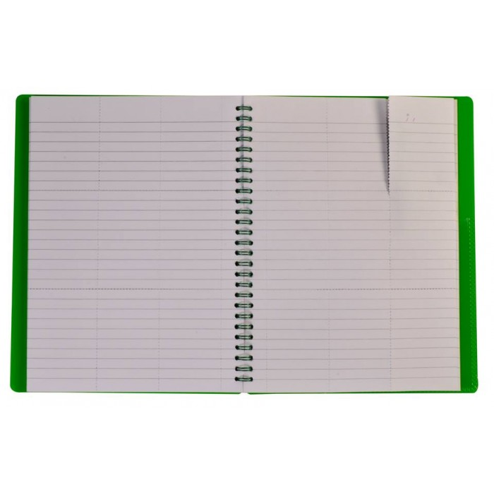 "NOTEX LEMON GREEN WIREBOUND SPIRAL 1 SUBJECT NOTEBOOK 75 SHEETS 6""X9.5"" RULED/LINED PAPER"