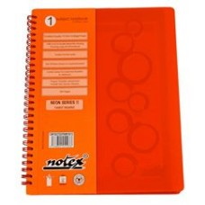 "NOTEX TANGY ORANGE WIREBOUND SPIRAL 1 SUBJECT NOTEBOOK 75 SHEETS 6""X9.5"" RULED/LINED PAPER"