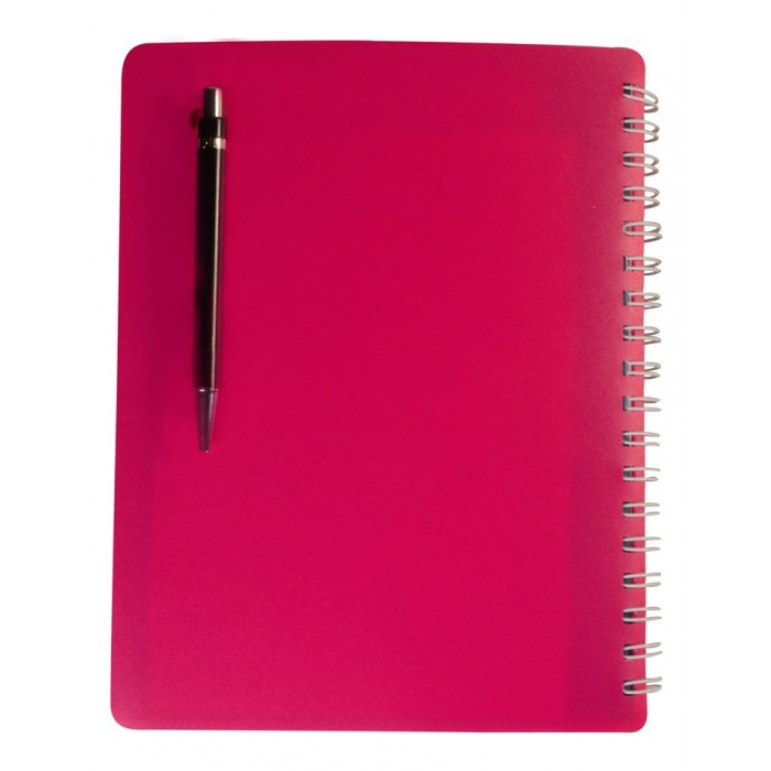"NOTEX HOT PINK WIREBOUND SPIRAL 5 SUBJECT NOTEBOOK 150 SHEETS 6""X9.5"" RULED/LINED PAPER"