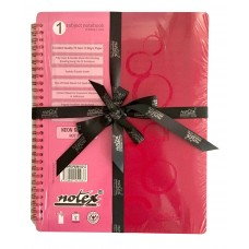 SINGLE SUBJECT BOOK (HOT PINK) WITH RIBBON PACKAGING