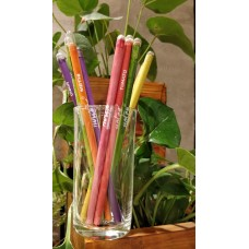 Notex Wood Free Plantable pencils. Made from 100% Recyled Newspapers / 100% Eco friendly / 10 Assorted Seeds
