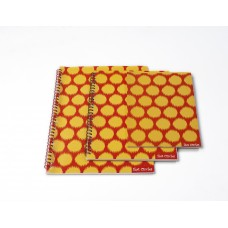 IKAT CIRCLES SIZE ORANGE (SET OF 3)