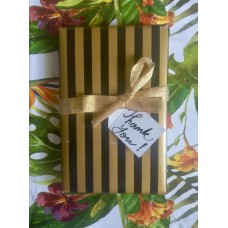REVERSIBLE GIFT WRAP PAPER (BLACK GOLD & TROPICAL PRINT) (PACK OF 2), 1
