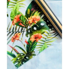 REVERSIBLE GIFT WRAP PAPER (BLACK GOLD & TROPICAL PRINT) (PACK OF 4), 3