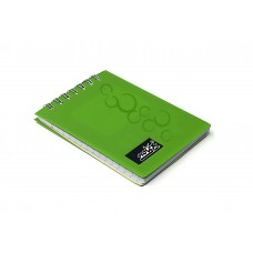 NOTEX MINI NOTEBOOK GREEN PLASTIC (PVC) COVER TOP SPIRAL 50 LINED SHEETS OF PAPER 3X4 INCH