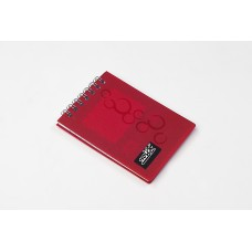 NOTEX MINI NOTEBOOK RED PLASTIC (PVC) COVER TOP SPIRAL 50 LINED SHEETS OF PAPER 3X4 INCH
