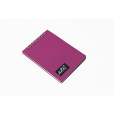 NOTEX MINI NOTEBOOK PINK PLASTIC (PVC) COVER TOP SPIRAL 50 LINED SHEETS OF PAPER 3X4 INCH