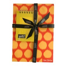 IKAT CIRLCES (ORANGE - A5), EXECUTIVE POCKET DIARY (SUNSHINE YELLOW - A7)