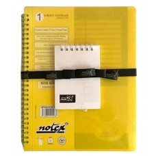 SINGLE SUBJECT BOOK (SUNSHINE YELLOW) POCKET DIARY (ICY WHITE) COMBO