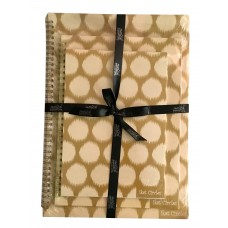 IKAT CIRCLES GOLD PARTY PACK (SET OF 3) A4, B5, A5